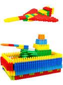 兒童塑料拼插子彈頭積木4-6歲幼兒寶寶益智拼裝男孩玩具1-2-3周歲「摩登大道」