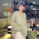 特價【A01200884】Y自訂款立體大麻花針織上衣5色