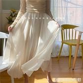 新品 下凡的仙子啊~棉麻雙層不規則半身裙長裙飄逸女 居家物語