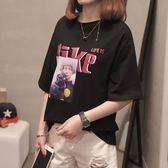 款不退換 穿搭XL 4XL 大 短袖29962 2019 夏裝  短袖T 恤加肥加大碼女