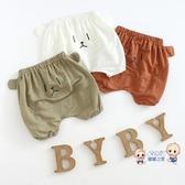 女童短褲 女寶寶短褲0-12個月兒童大屁屁褲3幼兒棉質褲子4歲男童夏季卡通褲 3色