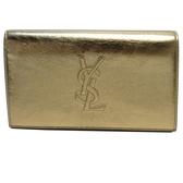 YVES SAINT LAURENT YSL 聖羅蘭 香檳金牛皮肩背斜背鍊條包 Chain Wallet【BRAND OFF】
