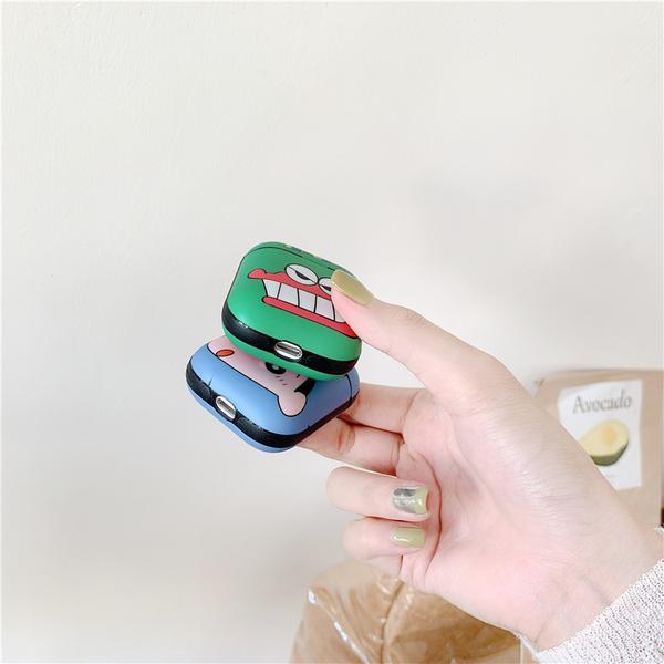 🍎部分現貨 台灣發貨🍎獨家自制款 Airpods2 藍芽耳機保護套 蘋果無線耳機保護套 藍小新+綠鱷魚
