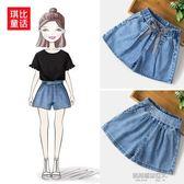 夏季新款女童牛仔短褲中大童韓版時尚薄款短褲兒童寬鬆短褲子  凱斯盾數位3c