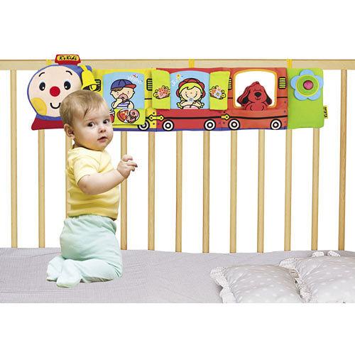 【奇買親子購物網】K's Kids Choo Choo Train Activity Bumper 火車造型床圍