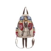 棉麻後背包-中國風復古編織流蘇女雙肩包73ws10【時尚巴黎】