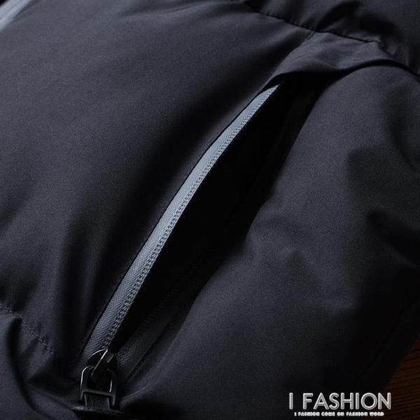 棉衣男2019新款冬季外套潮加厚韓版修身男士棉襖羽絨棉服冬裝衣服-ifashion