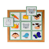 動物邏輯線索-食物 兒童幼兒教具玩具道具感官判別邏輯思維互動遊戲親子同樂扮演角色食材辨別