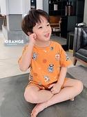 左西童裝男童夏裝套裝兒童睡衣短袖薄款家居服中大童2020新款夏季