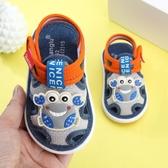 寶寶布涼鞋男夏0一1-2-3歲叫叫學步鞋子女嬰兒鞋6-12個月防滑軟底