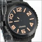 【萬年鐘錶】 LICORNE力抗錶全黑字躍系列 LI015MBBA-K