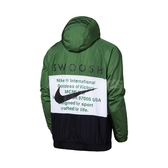 Nike 外套 NSW Swoosh Jacket 黑 綠 男款 防風外套 連帽 運動休閒 【PUMP306】 CJ4889-010
