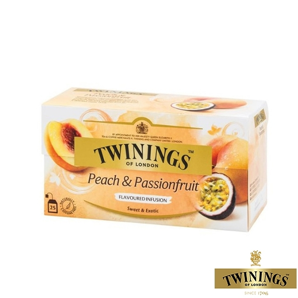 【TWININGS 唐寧】熱帶風情茶 Peach & Passion Fruit 2gX25入(盒)