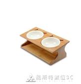 貓碗雙碗貓食盆貓盆狗碗陶瓷貓糧碗貓飯盆水碗貓碗架餐桌貓咪用品 酷斯特數位3c YXS