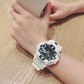 潮流ulzzang手錶男女學生韓版簡約休閒大氣電子錶時尚運動防水白 免運快速出貨