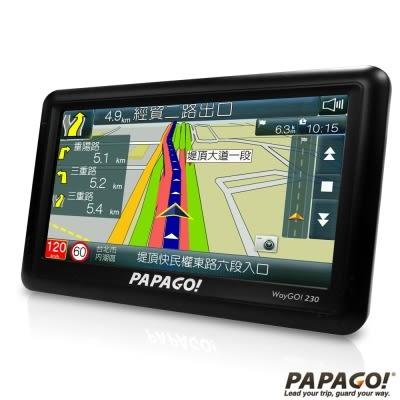 贈送 16G記憶卡 PAPAGO! WayGO!230 5吋高效能衛星導航機