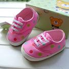 彩色點點 軟膠底學步鞋.童鞋.室內鞋  0~24M  橘魔法 Baby magic現貨 嬰兒 兒童 小童 女童