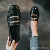 英倫小皮鞋女2020春款新款黑色百搭上班鞋一腳蹬樂福鞋豆豆鞋單鞋 新品上新