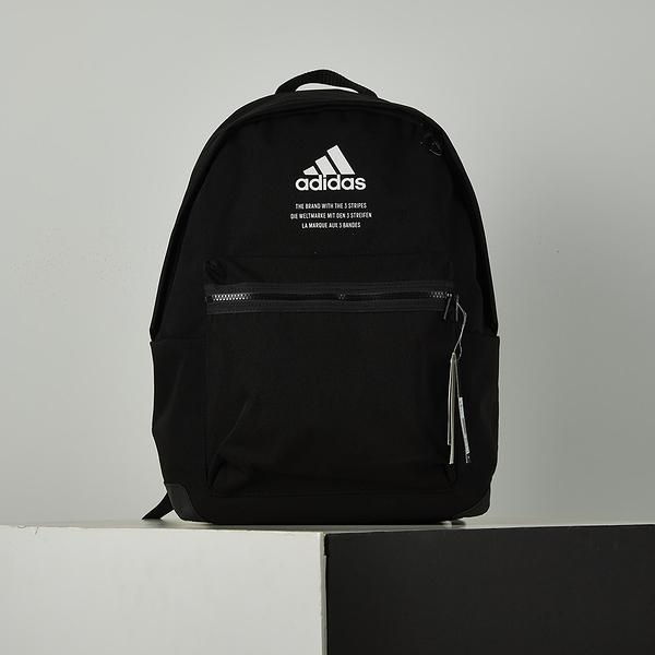 Adidas CLAS BP FABRIC 黑 斜紋布 經典 後背包 GD2610