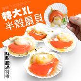 【大口市集】鮮美半殼鮮凍大扇貝3包(600g/包)