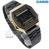 CASIO卡西歐 A168WEGB-1B 電子錶 方形 復古造型設計 男錶 運動錶 學生錶 A168WEGB-1BDF