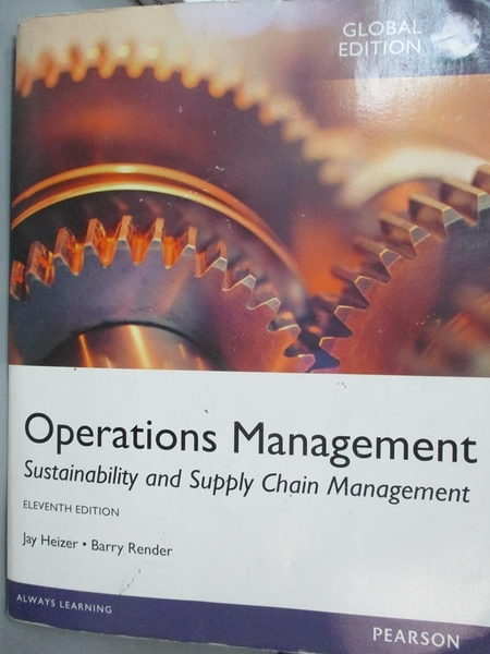 【書寶二手書T7/大學商學_PDG】Operations Management_Heizer、Render