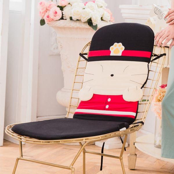 Kiro貓‧士兵貓L型坐墊/沙發靠墊/汽車/椅背墊/附綁繩【230654】