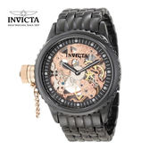【INVICTA】經典大龍頭機械腕錶 限量款陶瓷 黑玫瑰金色 - 47mm