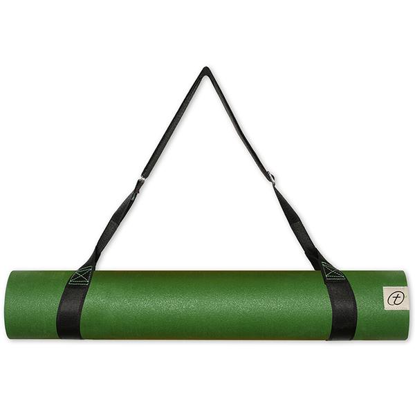Taimat 天然橡膠瑜珈墊 183cm (附簡易背帶) - 吠陀系列 - 墨綠色