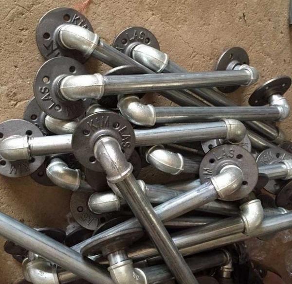 工業LOFT白鐵水管把手 50公分LOFT鄉村美式鐵管復古做舊風格 個性化商品穀倉門可用