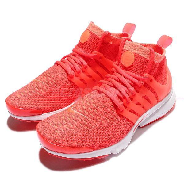 Nike 魚骨鞋 Wmns Air Presto Flyknit Ultra 橘 白 針織鞋面 襪套 女鞋【PUMP306】 835738-800 835738-800