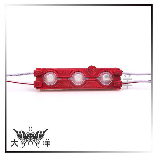 ◤大洋國際電子◢ 5630 LED魚眼 3燈長形模組 50~55Lm (白/暖白/紅/藍/綠/橙) 氣氛燈 裝飾 廣告燈 1064