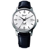 Ogival 愛其華 銀魂經典手上鍊機械腕錶(白) 1929AMS