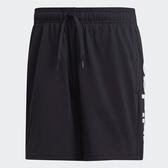 Adidas男款黑色大LOGO運動短褲-NO.DQ3109
