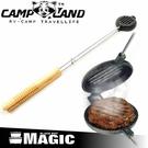 【CAMP LAND 漢堡肉烤夾】 RV-IRON4007/烤夾/烤肉架/荷蘭鍋/野炊