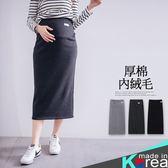 哈韓孕媽咪孕婦裝*【HB3566】正韓製.瑜珈腰孕婦褲.舒適厚棉內絨毛窄裙