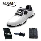 PGM 高爾夫男士球鞋 旋轉鞋帶球鞋 防水防滑鞋子 GSH093WBLK