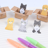 ✭慢思行✭【P128】可愛紙箱貓咪N次貼 便利貼 學生用品 設計 辦公用品 便簽貼 創意