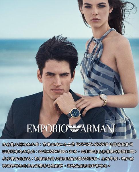 Emporio Armani 亞曼尼 Ceramica 陶瓷時尚女錶-黑x玫瑰金/38mm AR1496