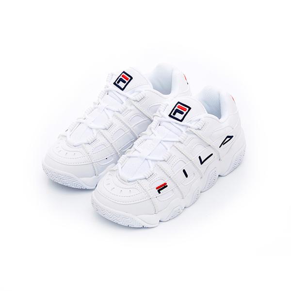 FILA BARRICADE XT 97 中性款白色增高厚底運動籃球鞋 4b007u111