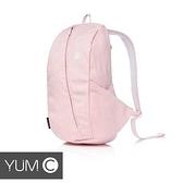 【風雅小舖】【美國Y.U.M.C. 休閒風防潑水透氣大容量雙肩後背包/書包/13吋筆電包 珊瑚粉】
