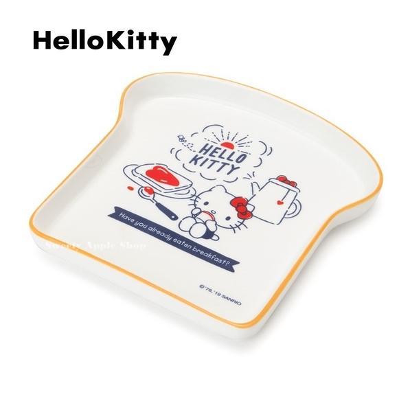 日本限定 三麗鷗 HELLO KITTY 凱蒂貓 早餐系列 吐司造型 餐盤 / 盤子
