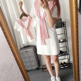 歐巴童裝2018新款純棉親子裝短袖T恤夏裝親子連衣裙 LL389『寶貝兒童裝』