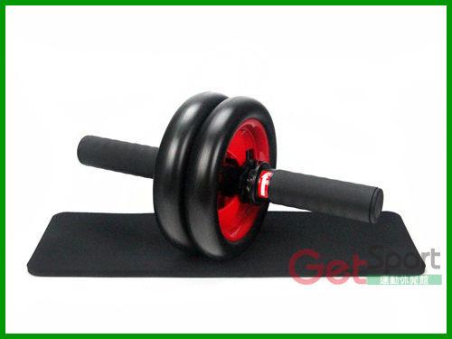 煞車健美輪(滾輪/健腹輪/雙輪式/送跪墊/馬甲線/健腹器/人魚線/健身器材/健臂器/瘦小腹)