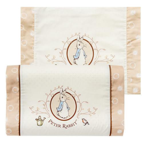 【奇哥】優雅比得兔乳膠中童枕(50x30x7/9公分)(附贈替換枕套)
