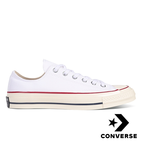 CONVERSE】CHUCK 70 OX 白低筒帆布鞋男女款 162065C