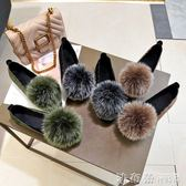 毛毛鞋女秋冬外穿2018新款韓版圓頭平底單鞋加絨百搭豆豆鞋棉瓢鞋 法布蕾輕時尚