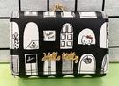 【震撼精品百貨】Hello Kitty_凱蒂貓~三麗鷗 KITTY日本珠扣短夾/零錢包-窗戶黑#09042