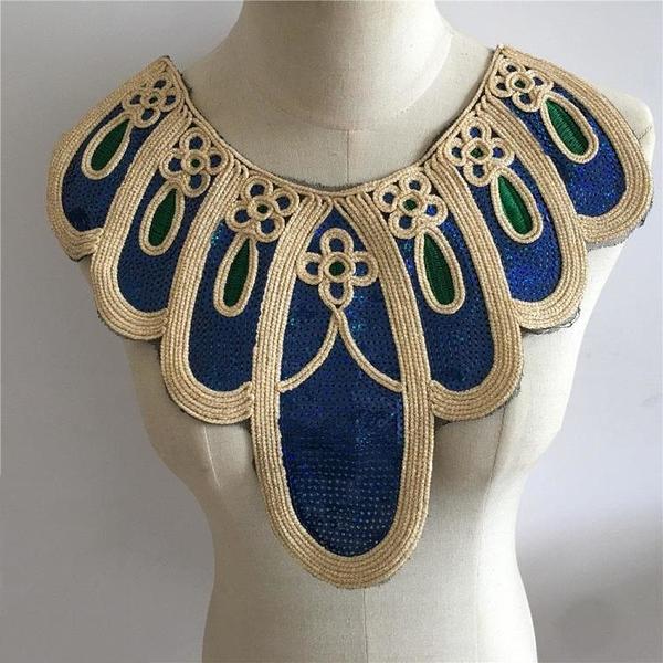 多種款式刺繡DIY蕾絲亮片花邊衣領裝飾衣服領口服裝輔料時尚百搭