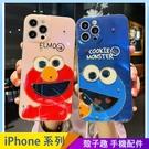 芝麻街卡通 iPhone 12 mini iPhone 12 11 pro Max 手機殼 藍光殼 滴膠彩鑽 全包邊軟殼 保護殼保護套 防摔殼